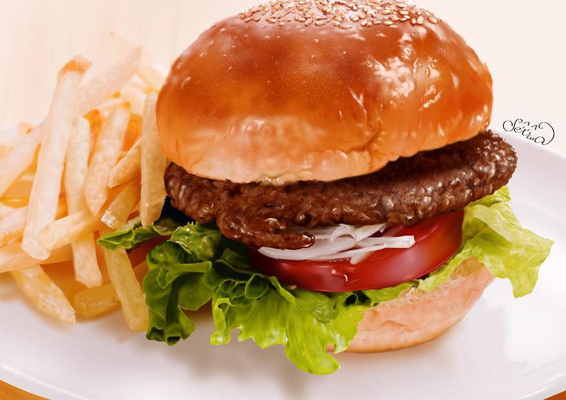 ハンバーガー(練習)