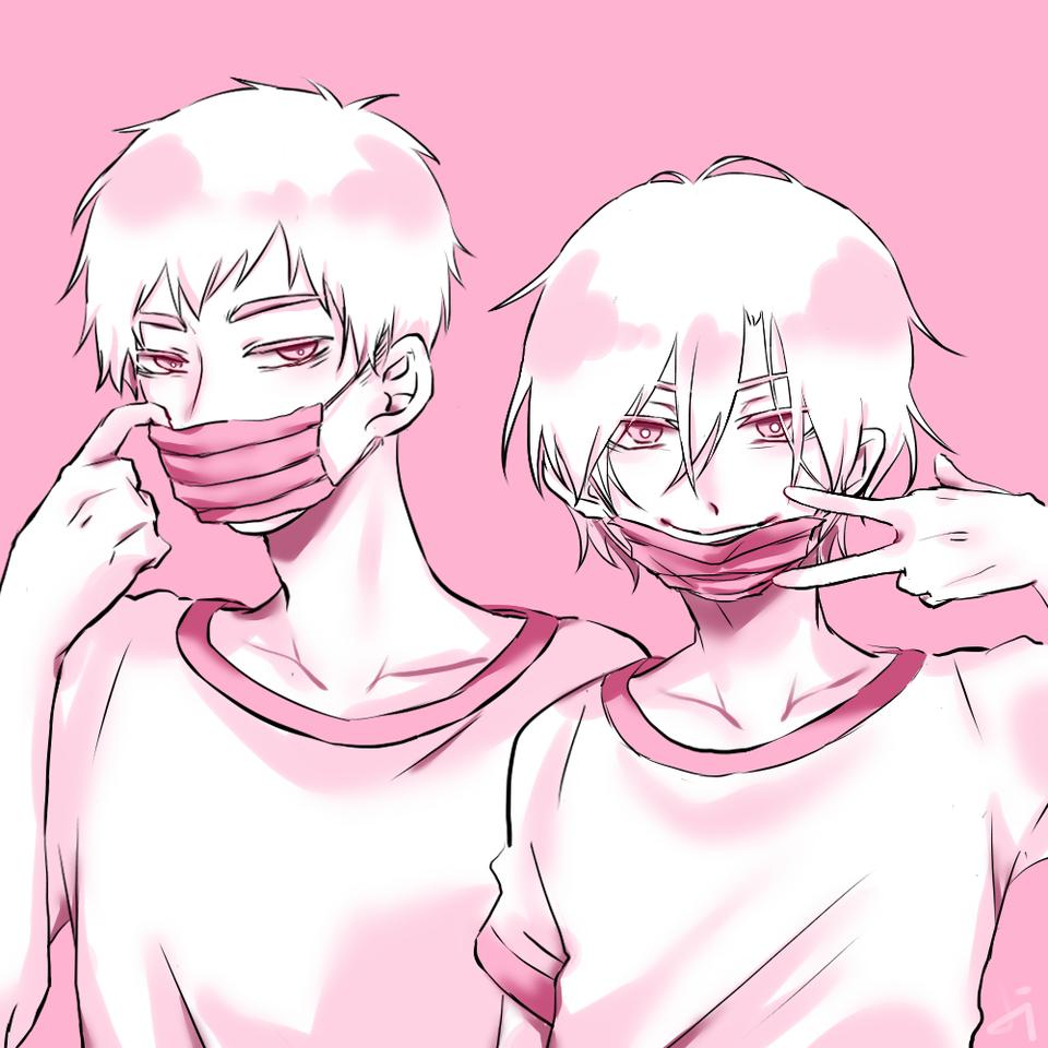 粉色口罩 : ) Illust of 香酥雞排299 April.2020Contest:Color boy pink 口罩 original