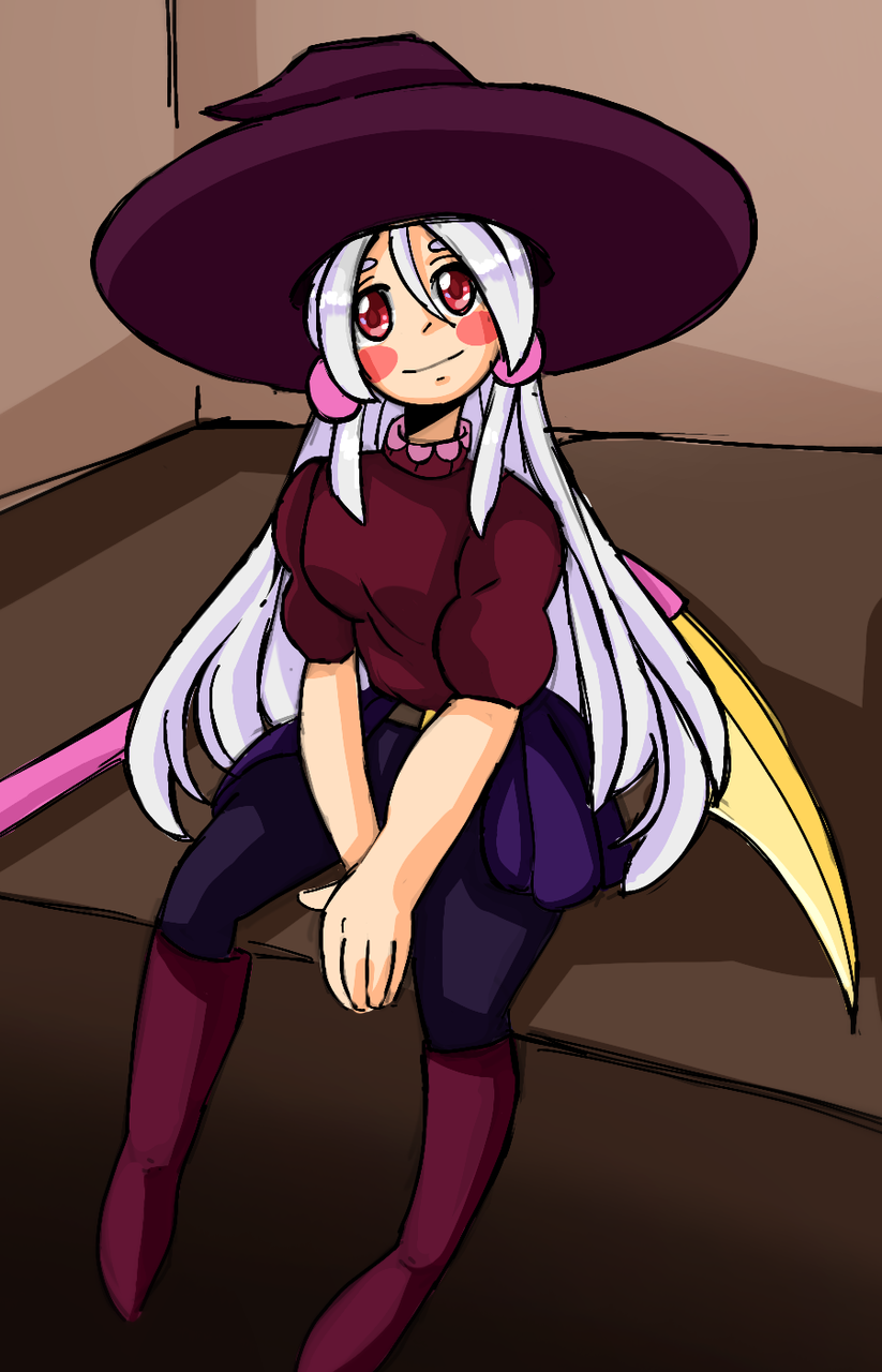 Request 1(✔️)  Illust of TylerdameTHICC medibangpaint request witch anime girl oc cute