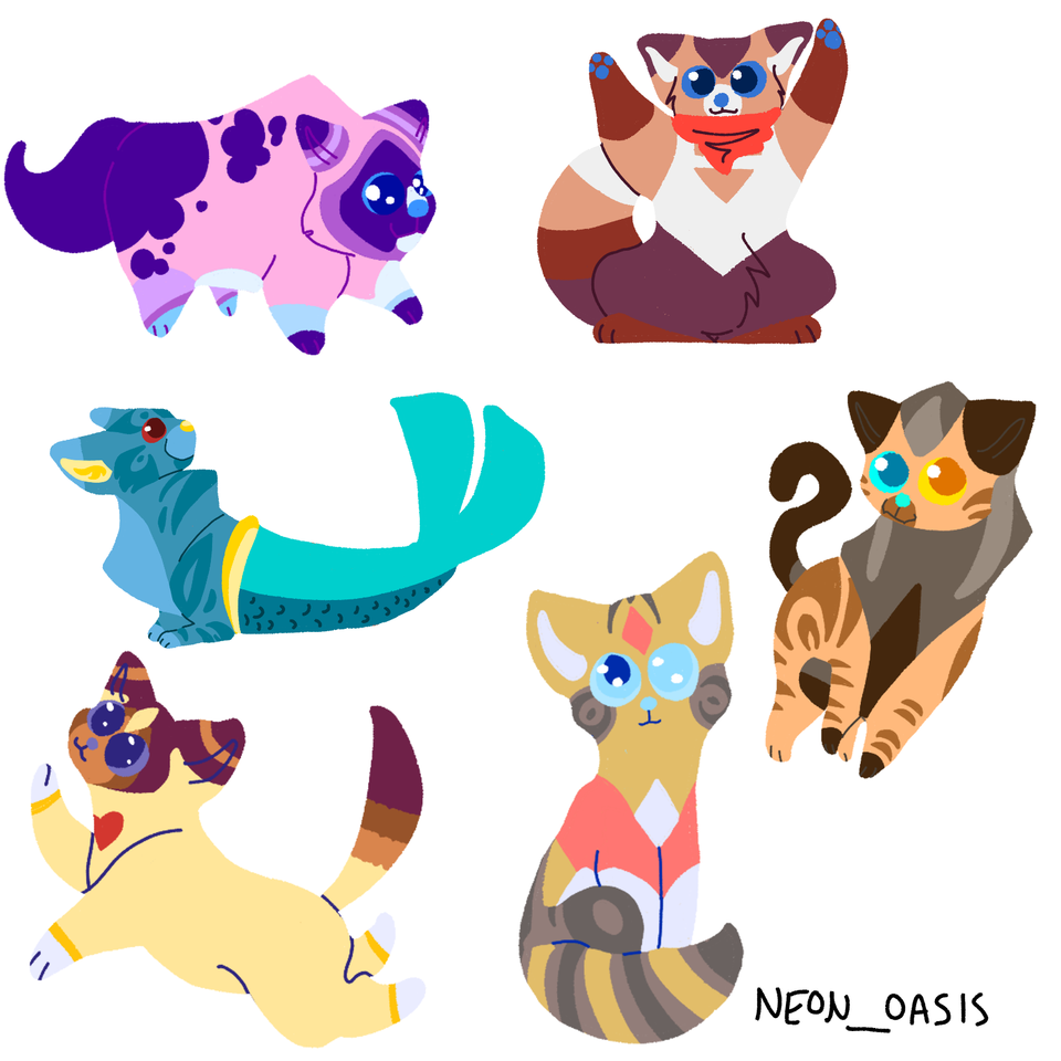 Some catified She-ra Designs Illust of ♥ puppii ♥ medibangpaint wow