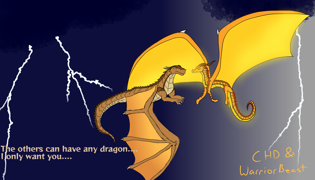 Clay and Peril Illust of Warriorbeast medibangpaint Dragons Clay Peril collab Crazyhorsedragon WoF