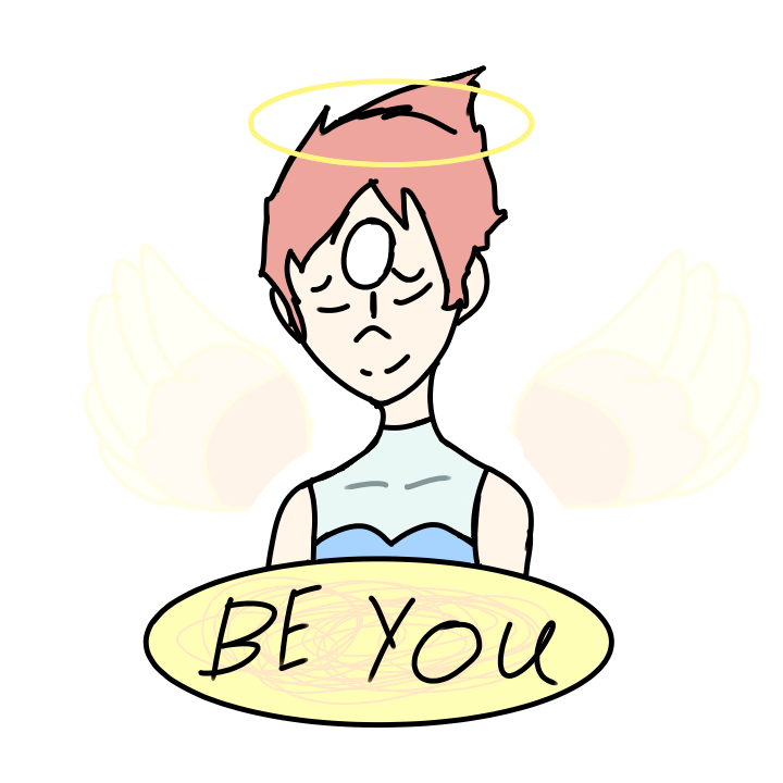 Pearl  sticker. Be You.