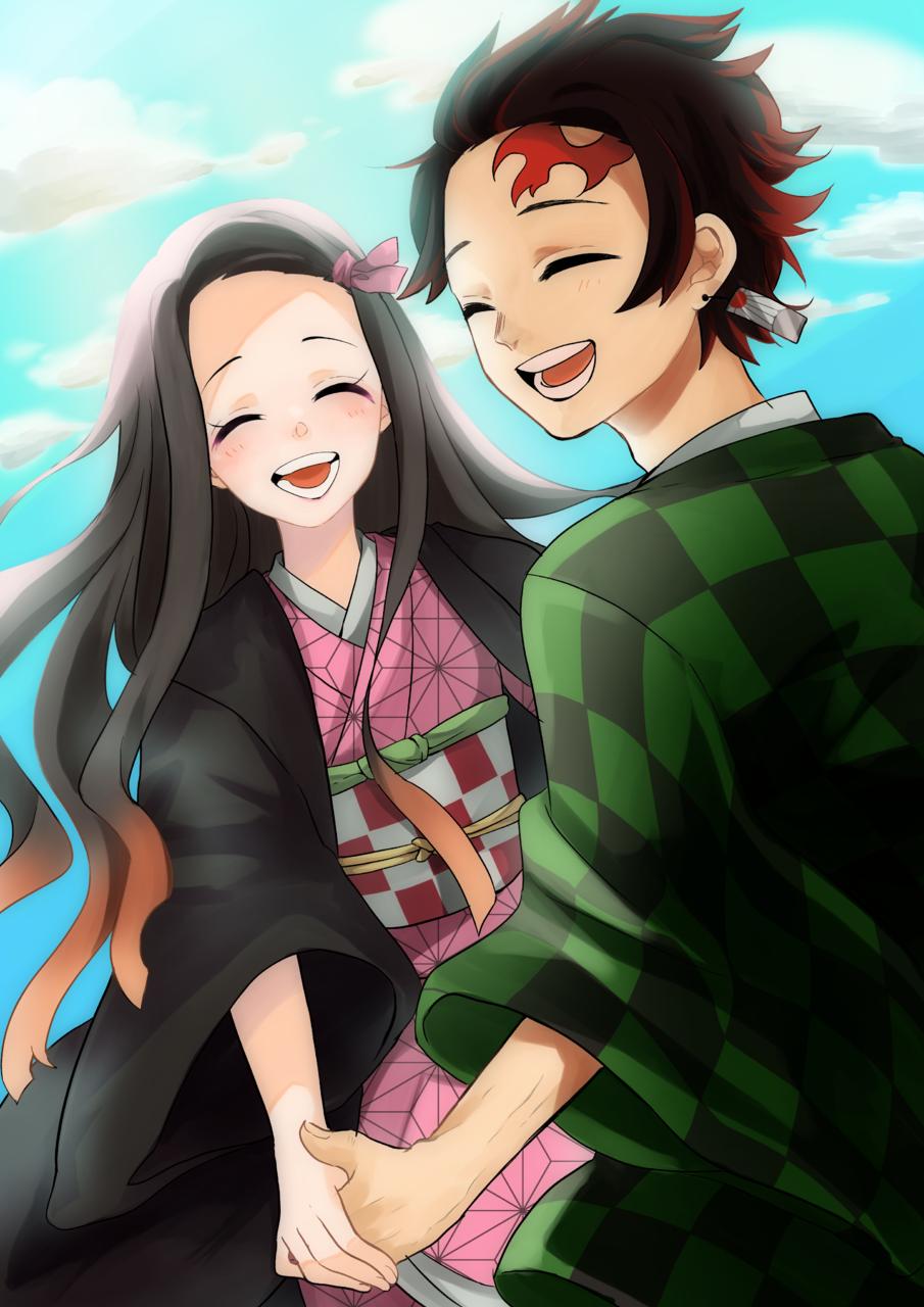 2人 Illust of 鈴花 DemonSlayerFanartContest KamadoTanjirou KimetsunoYaiba KamadoNezuko