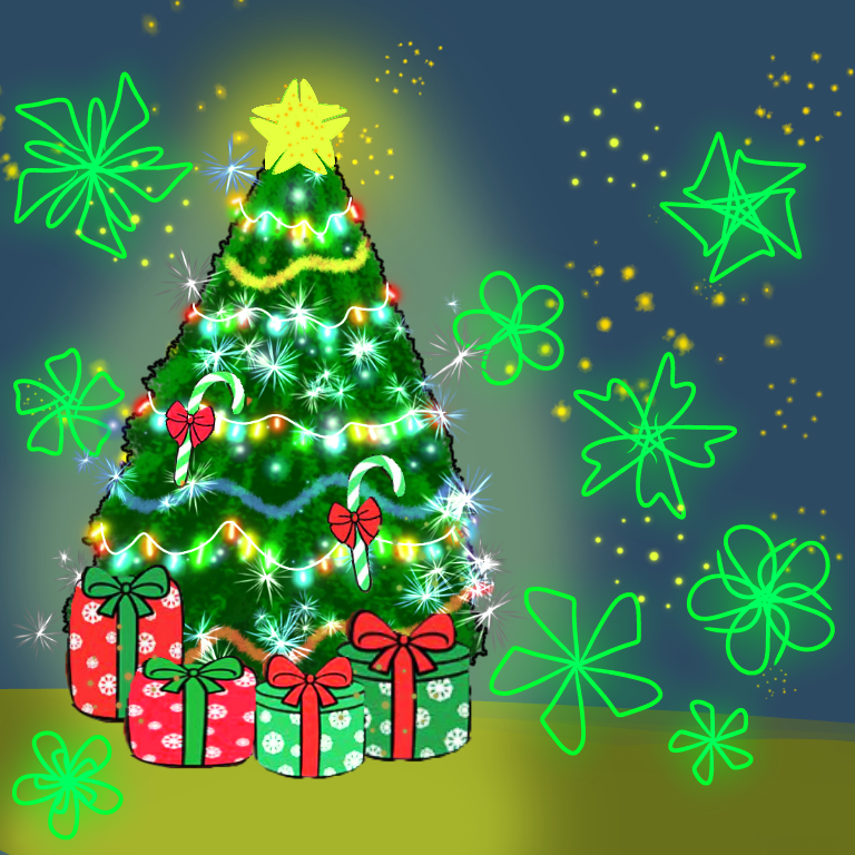 Feliz Navidad Illust of Valentina A M medibangpaint Christmas
