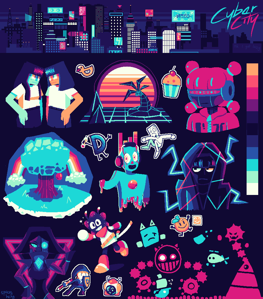 Cyber City Palette