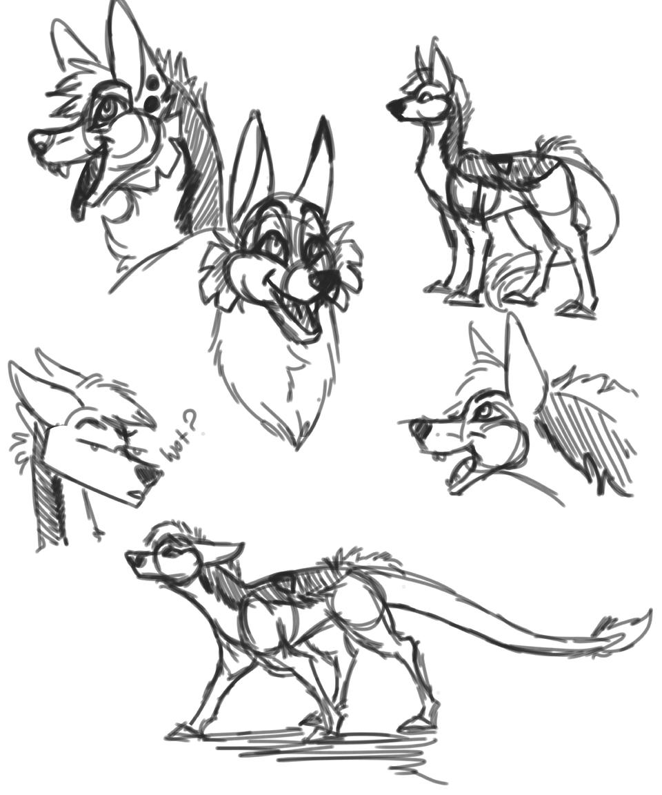 Sketches cause I'm bored Illust of Squeaky Plastic medibangpaint oc sketch