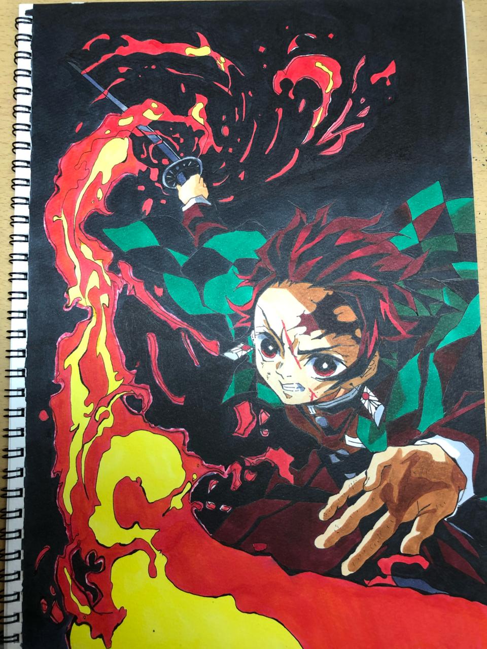 ヒノカミ神楽!! Illust of かずまん DemonSlayerFanartContest KimetsunoYaiba KamadoTanjirou