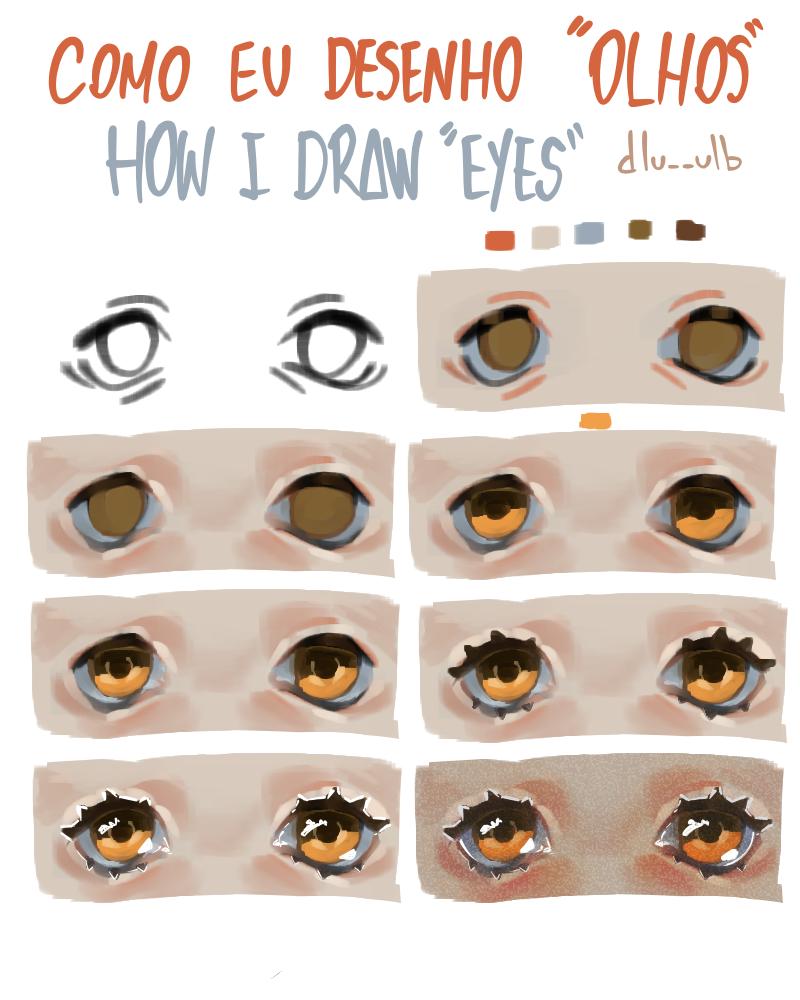 How I draw eyes Illust of dlu__ulb medibangpaint eyes tutorial comoeudesenhoolhos olhos Howtodraw HowIdraw