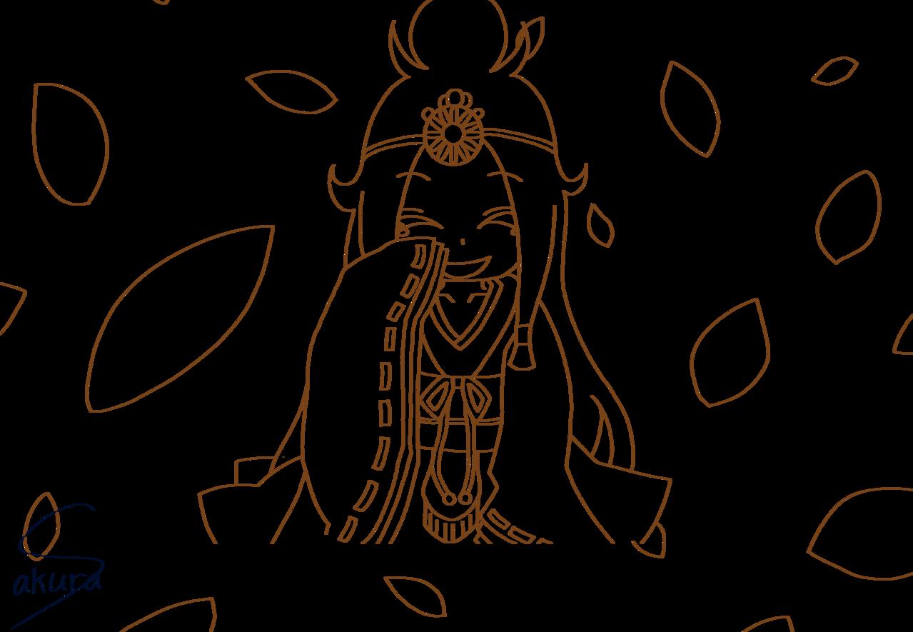 神のまにまに Illust of 桜 宮美/サブ れるりり line_art 桜宮美 ボカロ曲 神のまにまに
