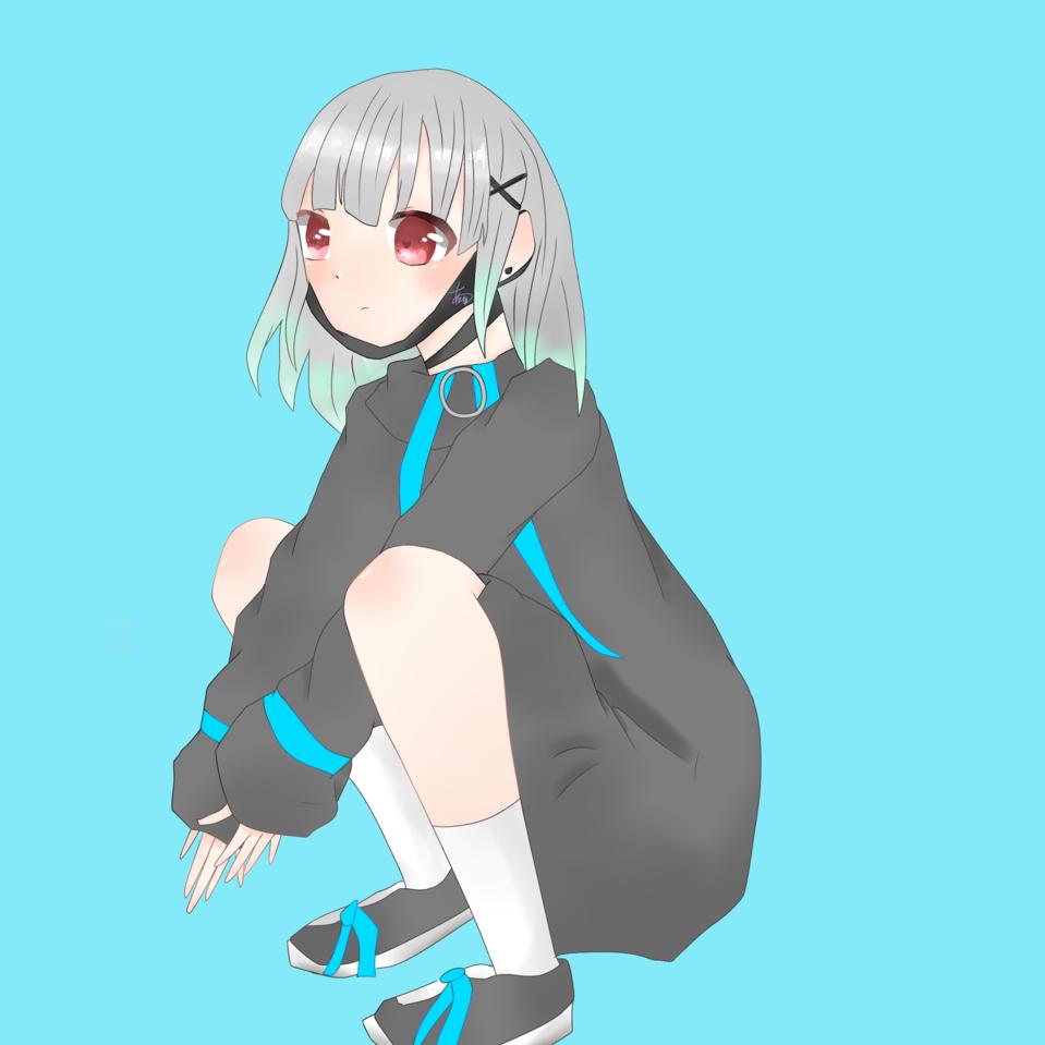 アイコン〜 Illust of 天音 代理ちゃん digital 銀髪? アイコン用 顎マスク