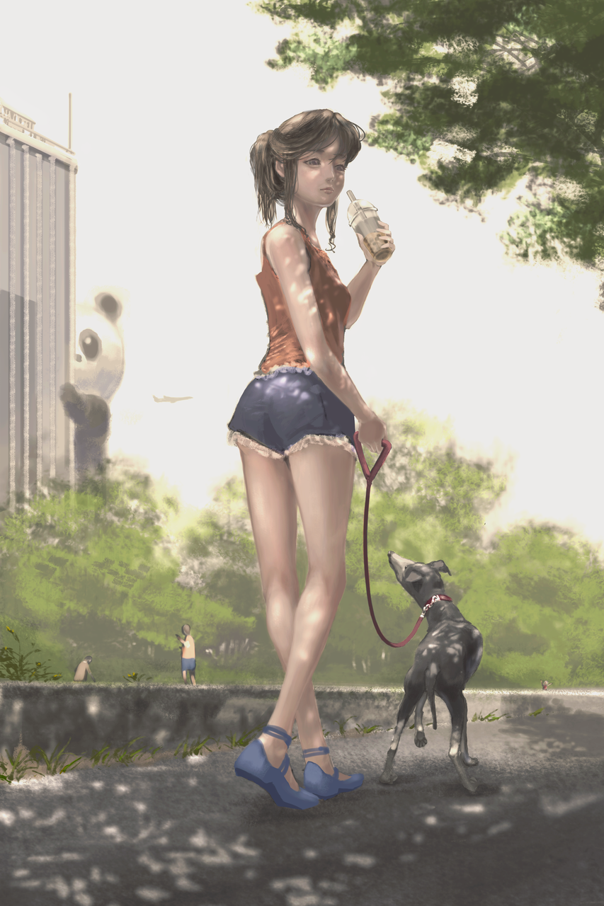 ストーカー Illust of com ARTstreet_Ranking drink oc illustration scenery illustrations panda digital hair