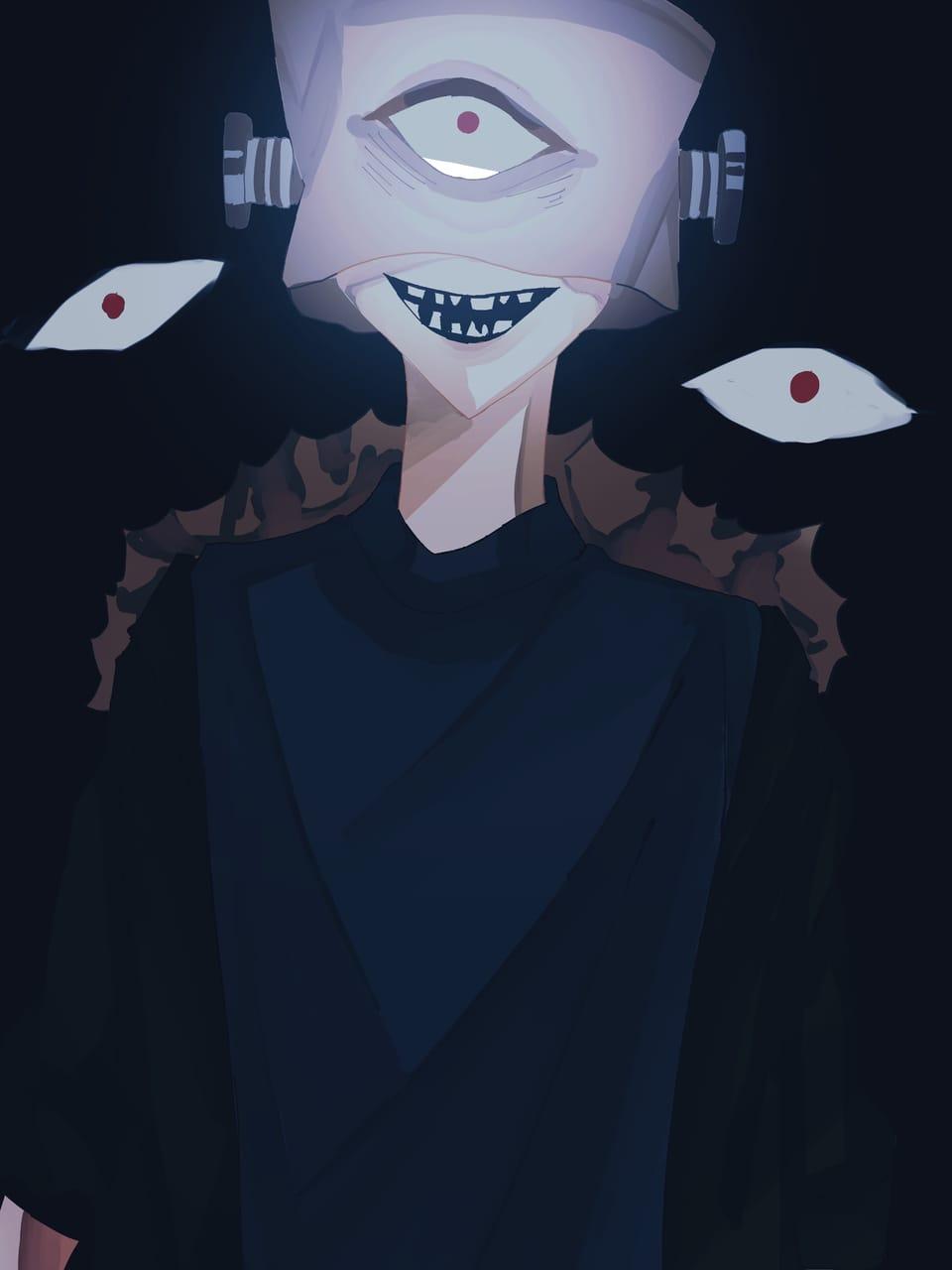 無題 Illust of おみそ#田舎同盟 boy CLIPSTUDIOPAINT 紙袋 eyes oc illustration 厨二病 black