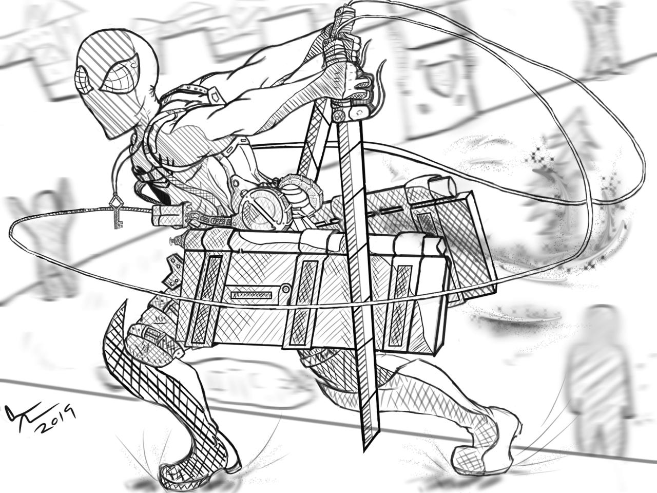 Attack on Titan Spidey