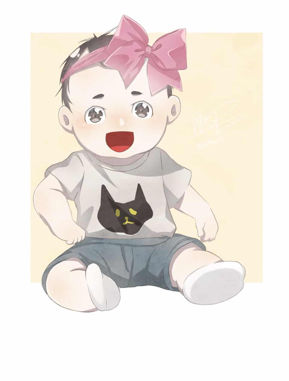 Baby sunshine Illust of WarPPloy cute girl baby boy watercolor Sunshine pastel
