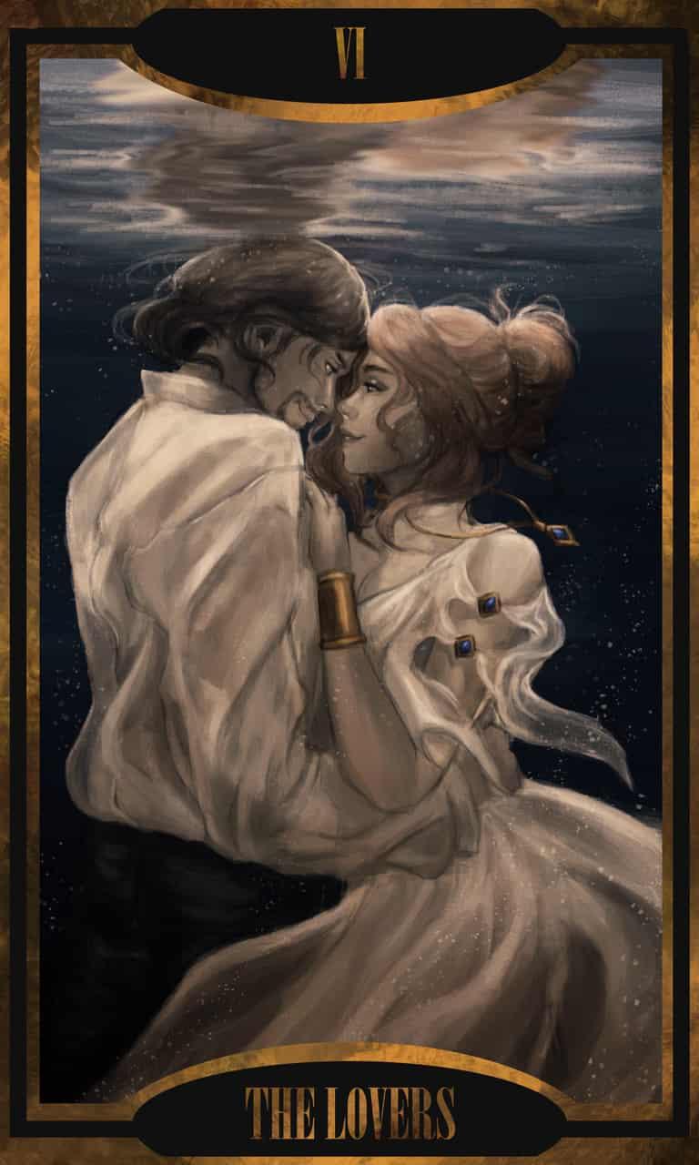 The Lovers Illust of Dcolares Feb2020:VDAY ValentinesDay love Oc's lovers oc February