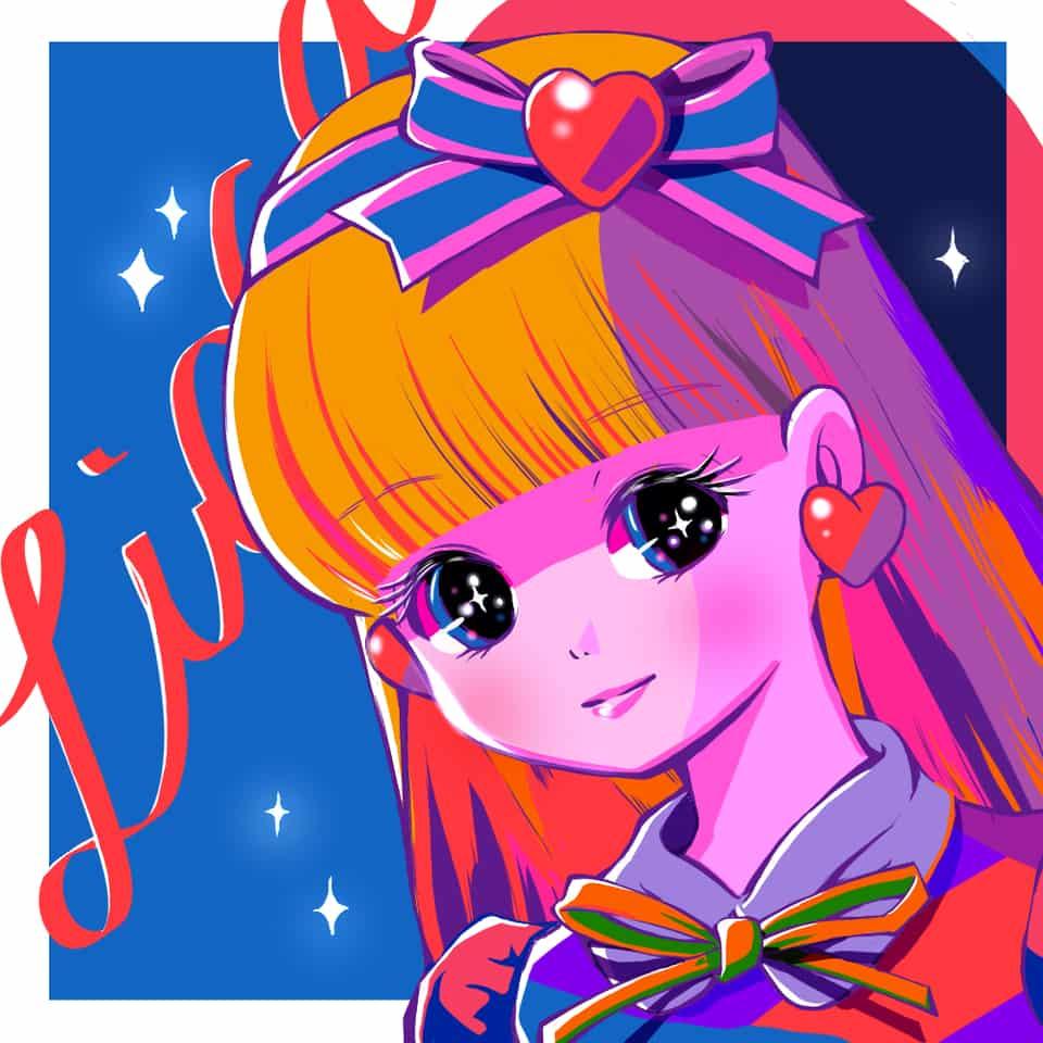 リカちゃん Illust of えび尾 illustration girl かわいい系 kawaii カラフル 女の子落書き ドール