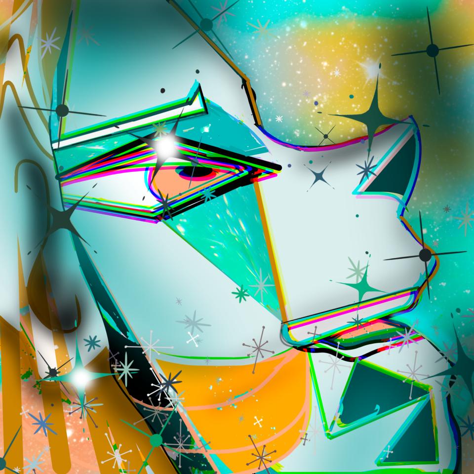 Helfy l'aliena Illust of Grandicelli Susanna November2020_Contest:Cyberpunk