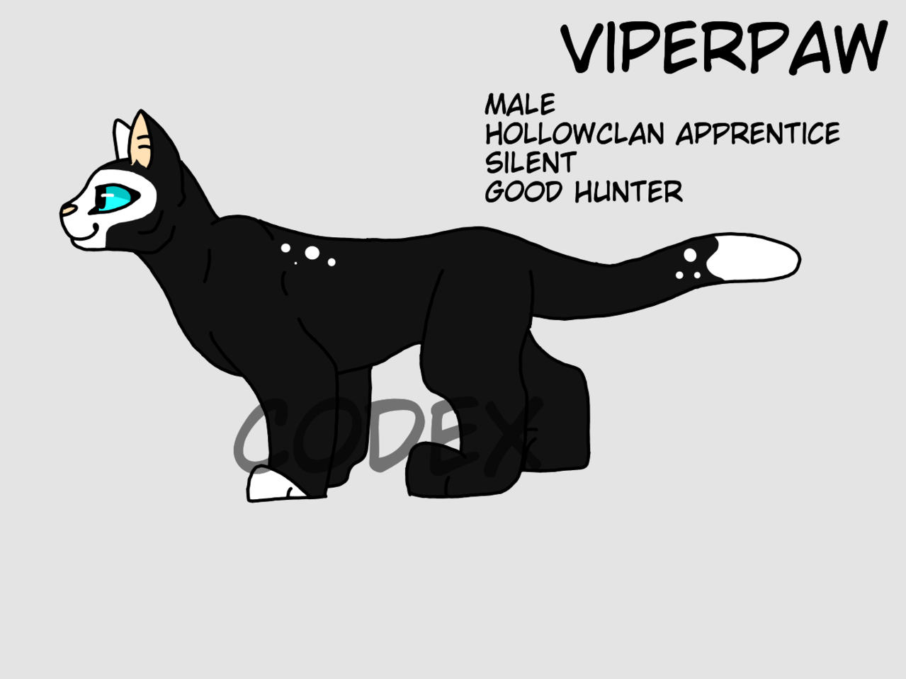 ViperPaw  Illust of HeadHonchoCodex medibangpaint HeadHonchoCodex cat Warriors furry boy dark Emo warriorcats oc