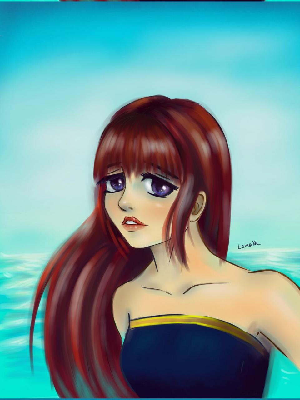 sadness Illust of Lema-lisa medibangpaint sad girl