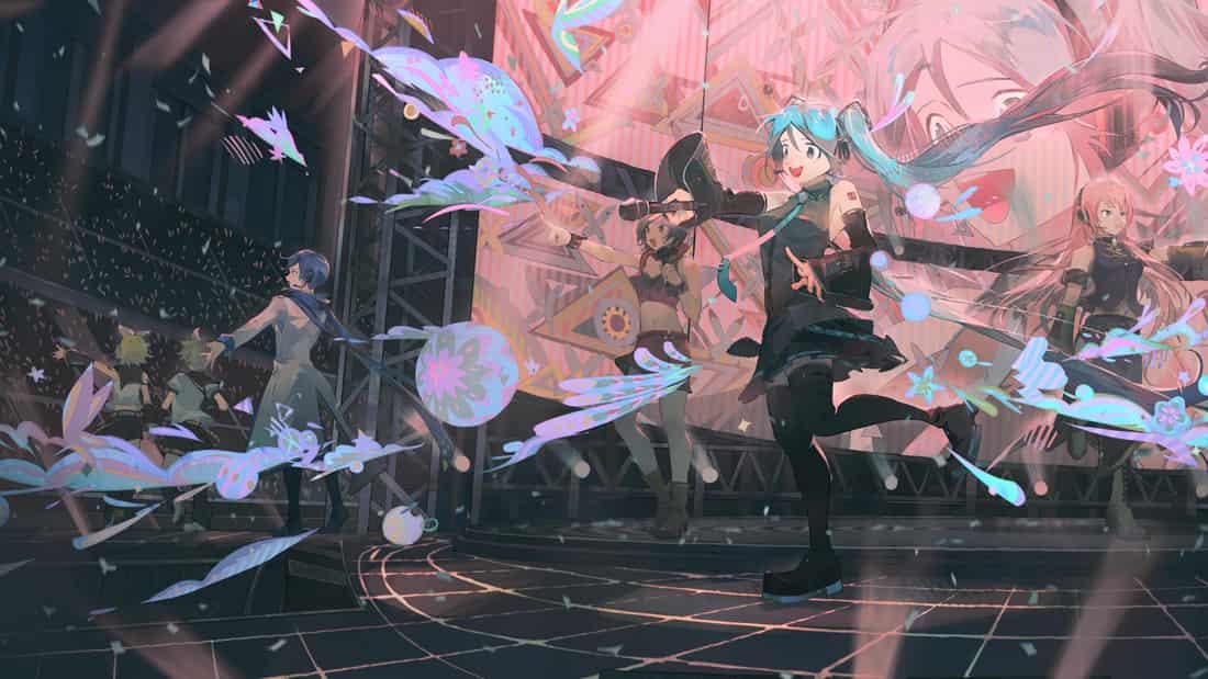 live Illust of lsu hatsunemiku VOCALOID