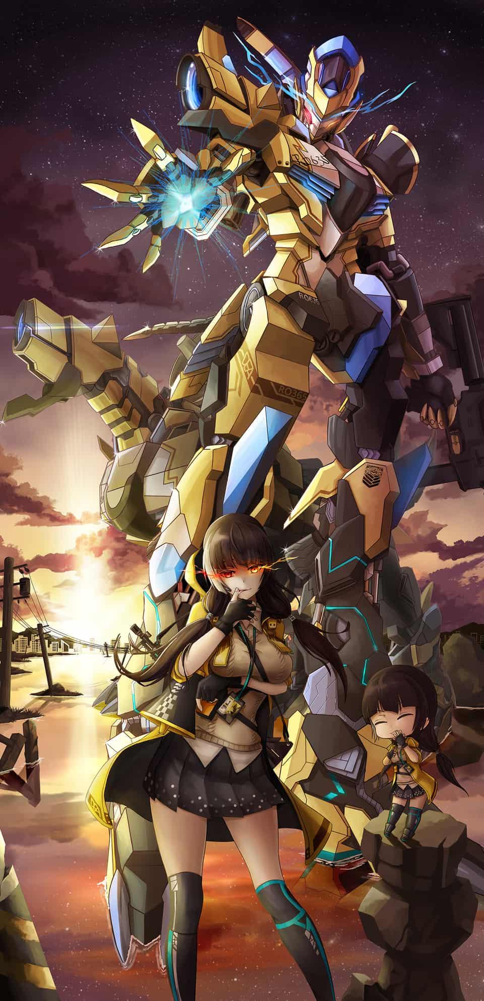 少女前線- RO635 GIANT Illust of 一撇 機甲 機器人 ドルフロイラコン Girls'Frontline
