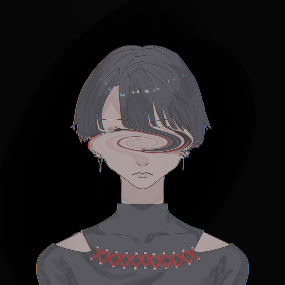 ゴミ捨て場 Illust of OHTEAOH 小5#腐女子同盟 black boy piercing red