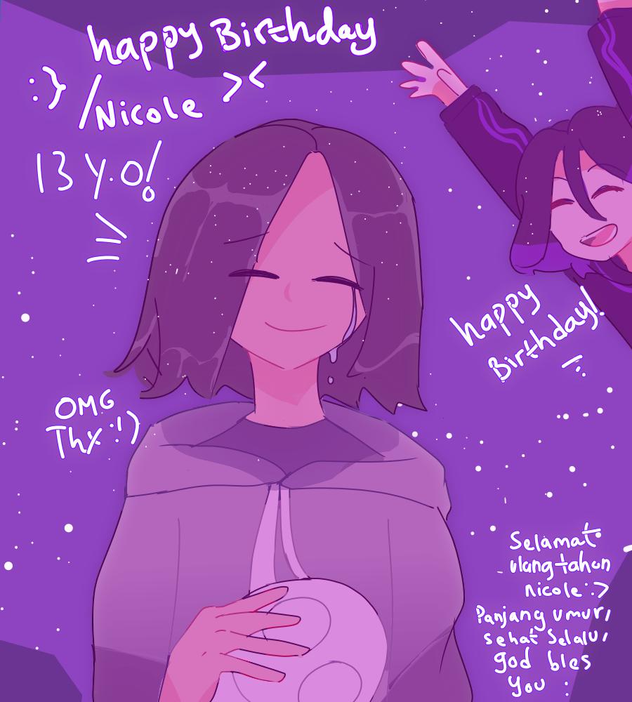 Happy Birthday :} God bless you😇🙏✨ Illust of 23 medibangpaint :} birthday