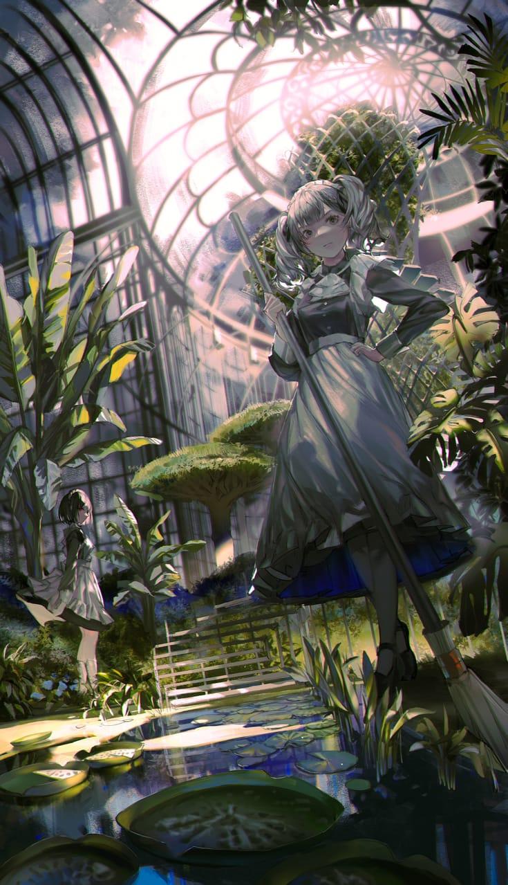 植物园 Illust of Yusuriw 植物園 maid original