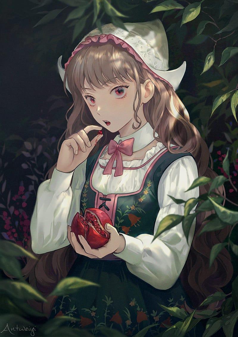 柘榴少女 Illust of Wei Yi September2021_Girl ARTstreet_Ranking_Contest 柘榴 girl original