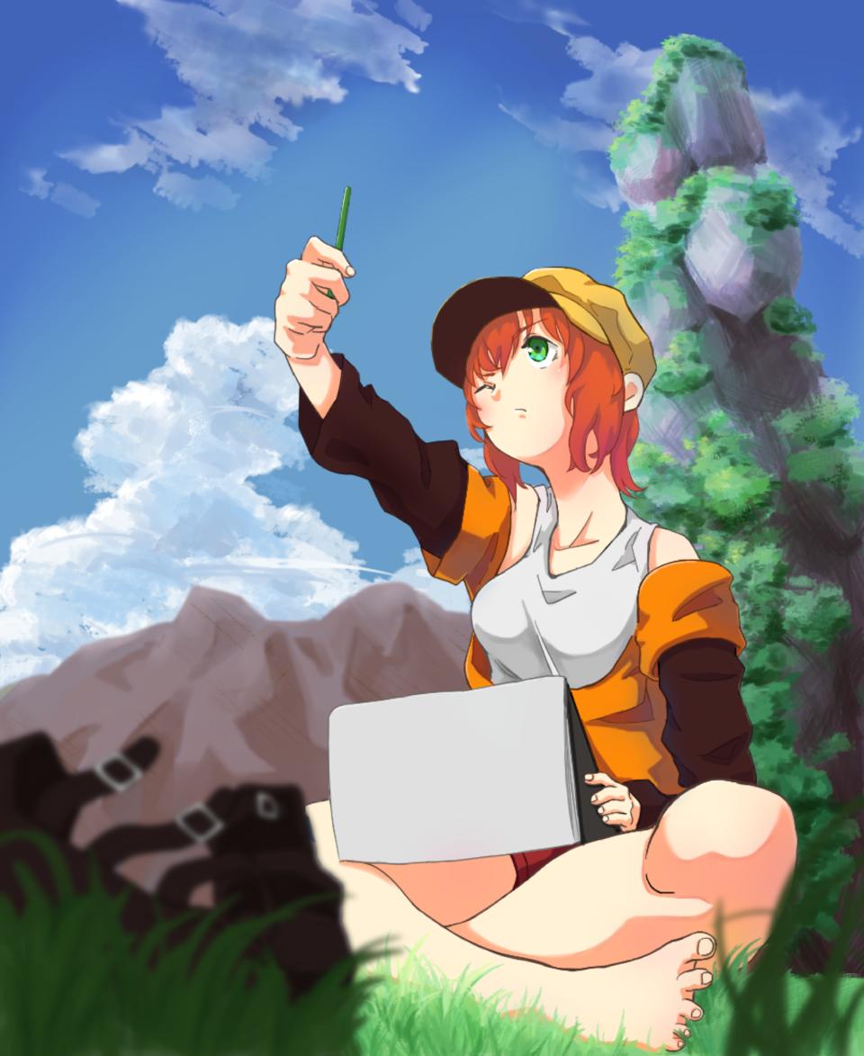 (…………………。) Illust of Re≠kuYa Original_Illustration_Contest girl お絵描き