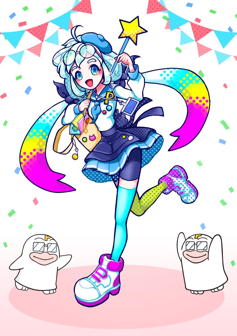 PICOQガールフレンド1 Illust of YANAGI PICO公式キャラクターPICOQガールフレンド大募集!!コンテスト medibangpaint カラフル twin_ponytails girl