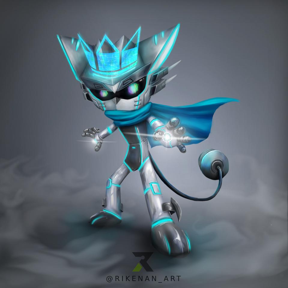 Huion Contest Illust of Rikenan HuionDesign medibangpaint illustration characterdesign robot character cyborg mecha