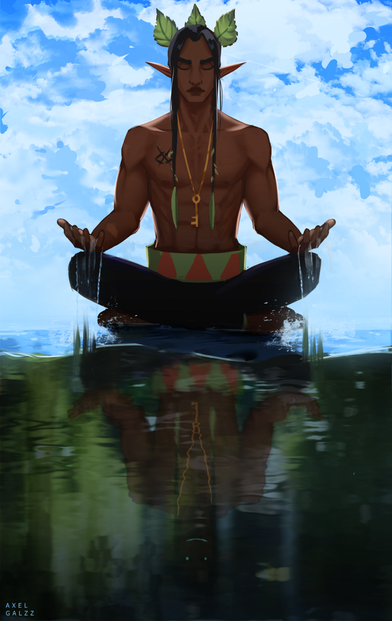 Balance is the key to everything Illust of Axel Galzz fantasy February2021_Fantasy original digitalpainting oc elf art water originalart digital