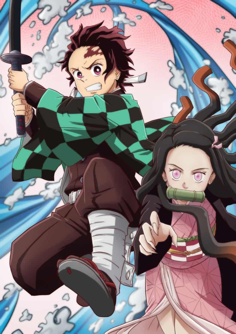 Tanjiro and Nezuko in action Illust of petorako DemonSlayerFanartContest