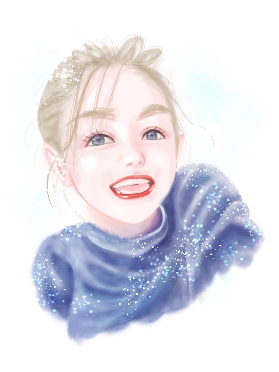 レイラニちゃん! Illust of FJ Post_Multiple_Images_Contest portrait girl kawaii watercolor レイラニ ThePromisedNeverland