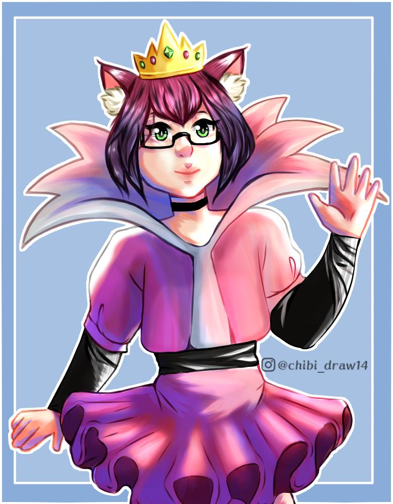 Reina gato ♥ Illust of Karenhc January2021_Contest:OC art animegirl drawing color digital anime illustration furry oc original