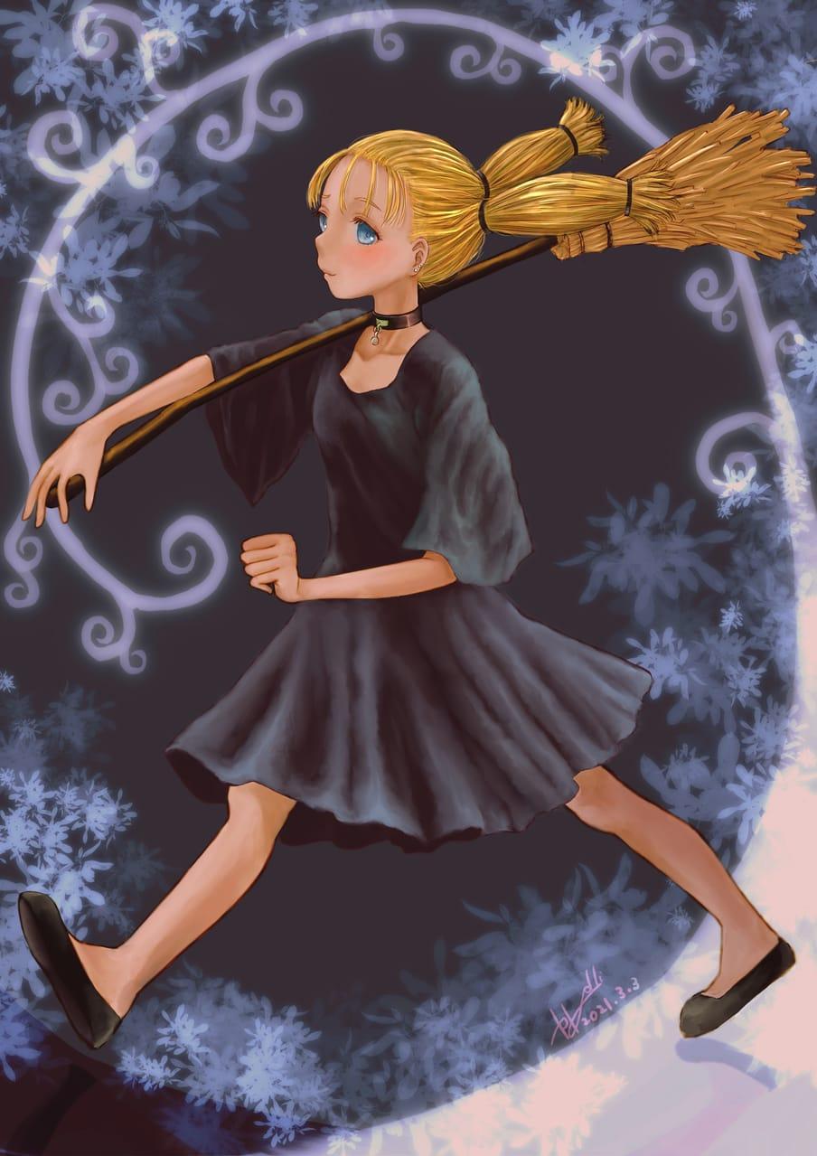 ARUKO~わたしは可愛い Illust of かごめはん JujutsuKaisenFanartContest witch 呪術廻戦ファンアート JujutsuKaisen 西宮桃