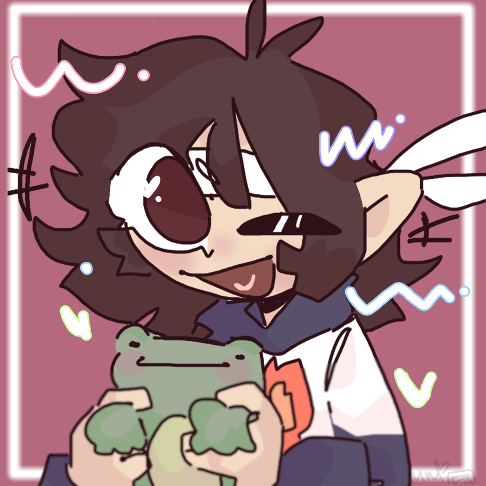 Pfp/gift for Bella  Illust of mint mochi contest fanart mcyt Aesthetic oc thisartshouldlvlup Frog