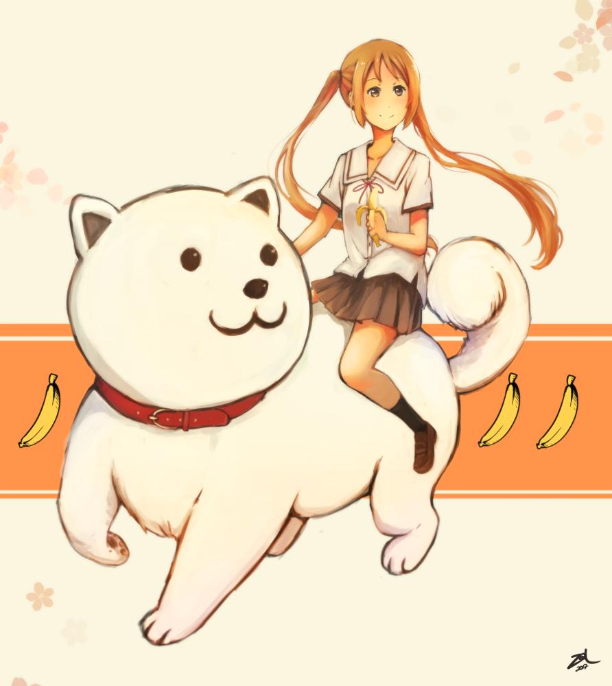 Yoshiko & Inu Illust of ZAL dog girl hanabatakeyoshiko anime fanart ahogirl