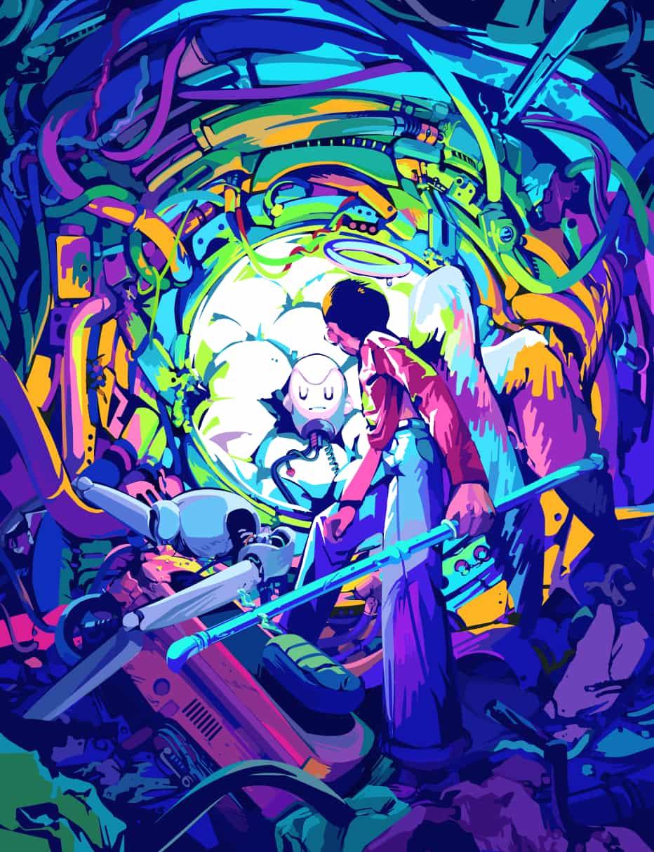 見つけた Illust of 吉村 sci-fi November2020_Contest:Cyberpunk ruins angel アンドロイド boy ロボット ディストピア 坊主 cyberpunk