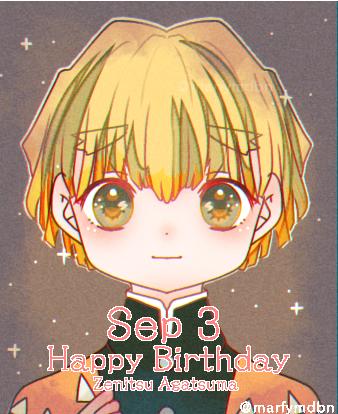 善逸誕生日 Illust of Marfy かっこいい fanart 雷の呼吸 KimetsunoYaiba kawaii blonde AgatsumaZenitsu birthday