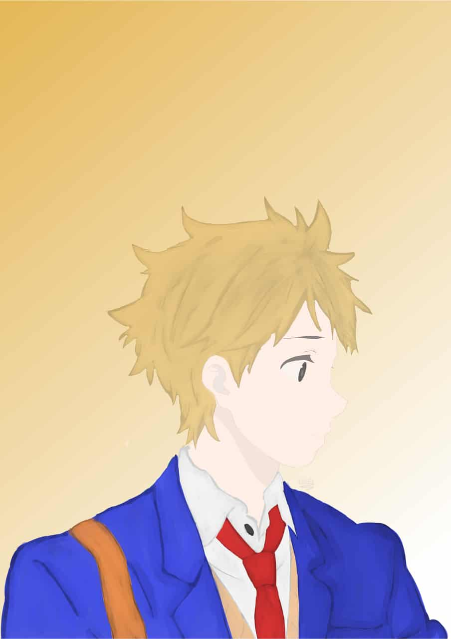 Akihito Kanbara - Kyoukai no kanata (あきひと かんばら) Illust of LRahier MyIdealHusbando MyIdealWaifu_MyIdealHusbandoContest acuarela animeboy Akihito kanbara animeart kyoukainokanata