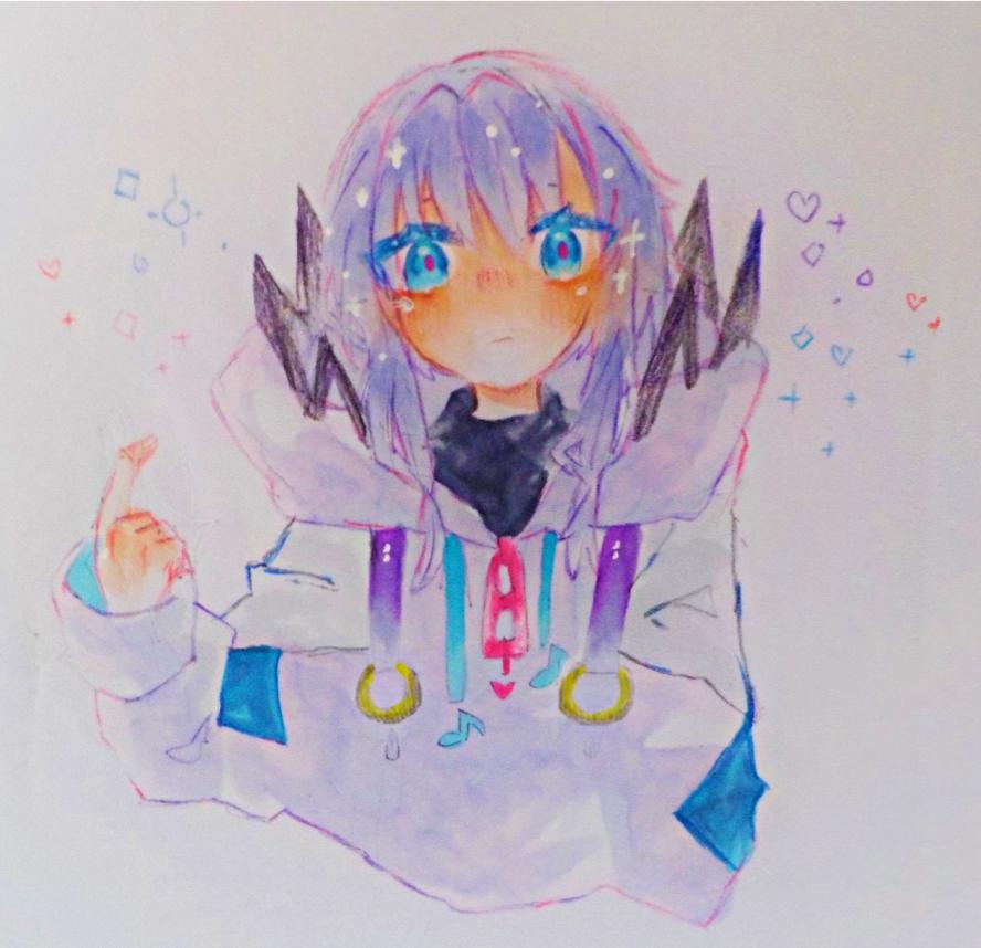 ぱらりんちょ Illust of めだまやき#くまヲタ Copic angel 可不 hoodie アナログ めだちゃのごはん kawaii