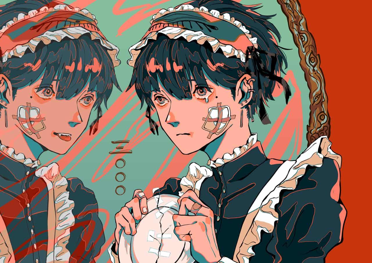 痲 (冥土くん) Illust of Tomei_Ningen original maid 絵描きさんと繋がりたい 女装男子