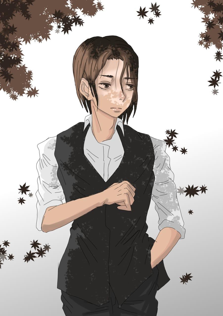 Another fail. Illust of Yuri Black Zero sketch painting medibangpaint illustration Trials