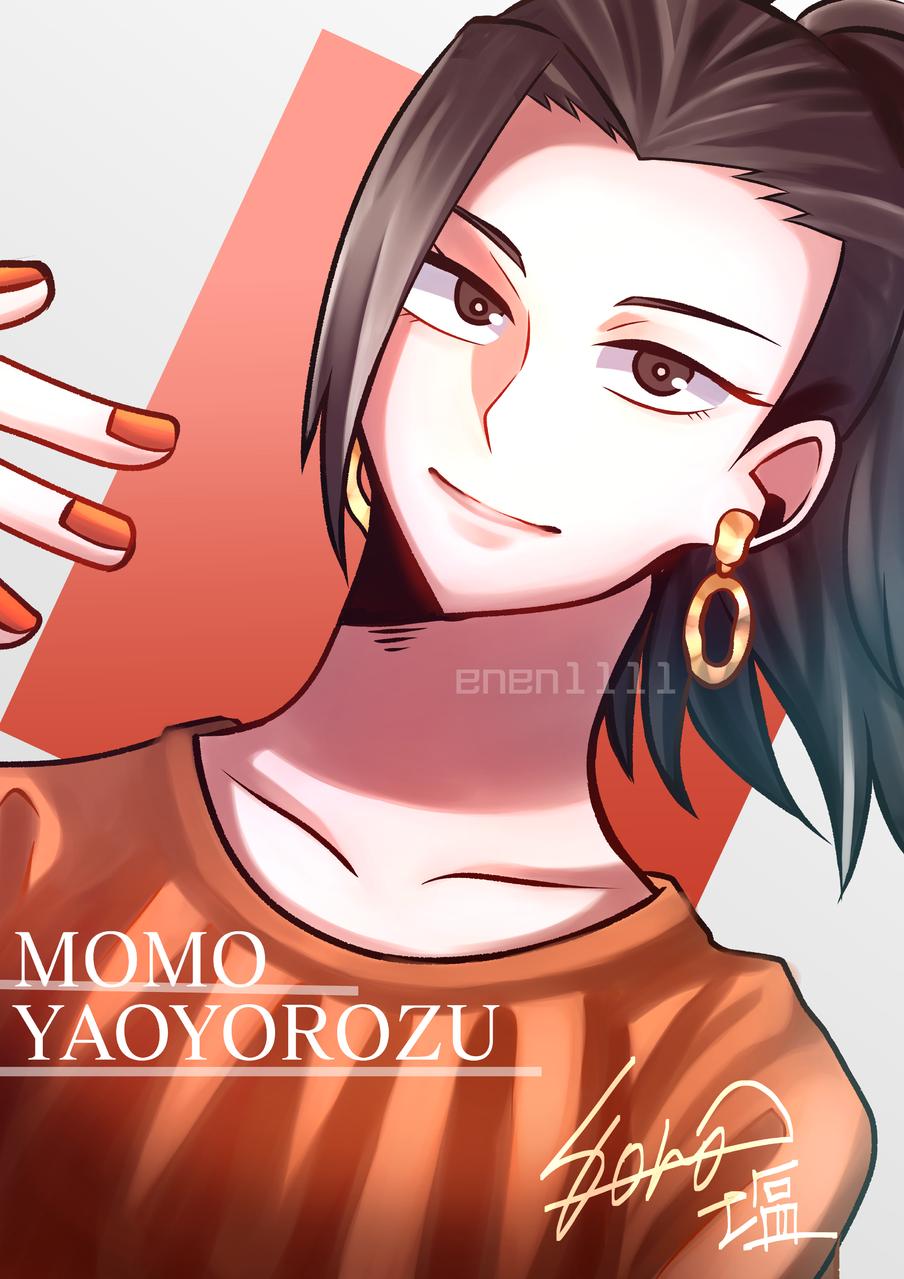 おしゃれヤオモモ✨ Illust of 塩 medibangpaint MomoYaoyorozu fanart 八百万百 MyHeroAcademia おんなのこ オレンジ Yaoyorozu ShonenJump ジャンプ