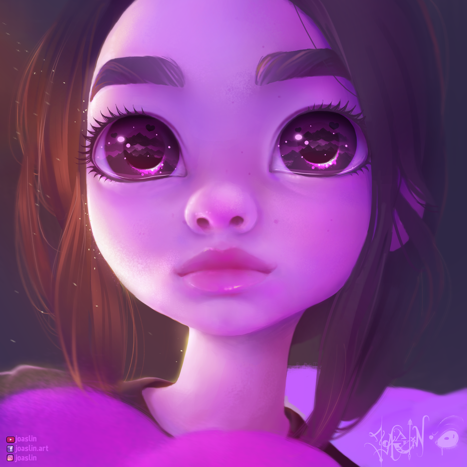 💜 Purple 💜 Illust of JoAsLiN ARTstreet_Ranking art girl eyes oc anime illustration purple original