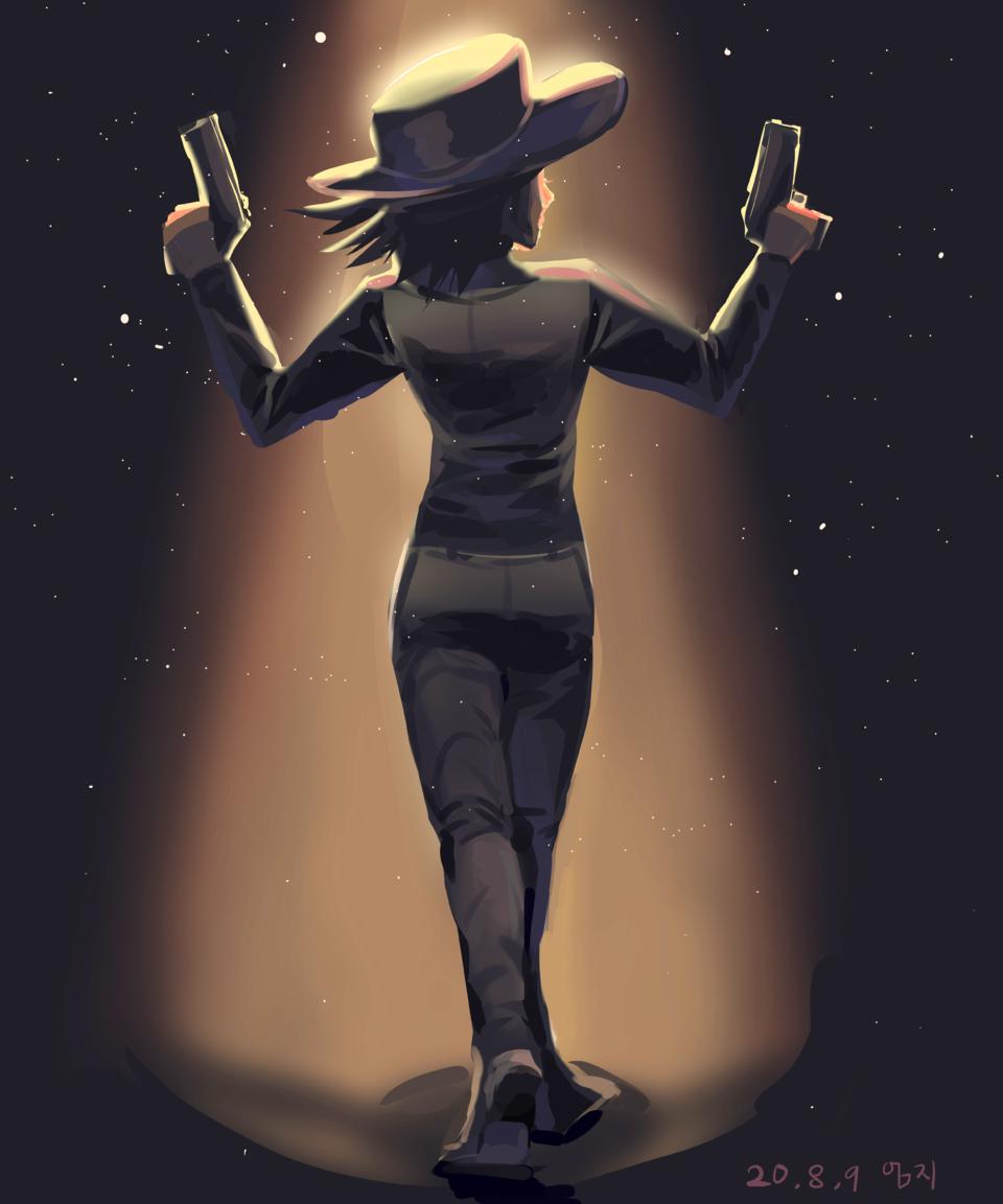 반짝한 빛 연출 Illust of 엄지손가락👍 medibangpaint