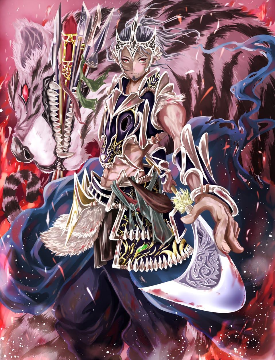 どっかの武将/No Name。 Illust of オニコロシ/生き方/帰り路 original 武器 oc 虎 戦