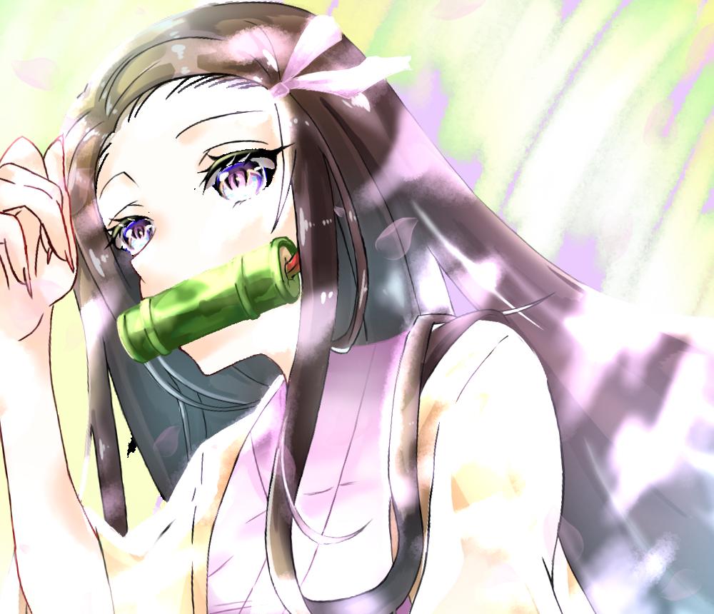木漏れ日ねずこ Illust of たらぺん#田舎同盟 kawaii girl KimetsunoYaiba 光 KamadoNezuko